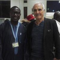 Arrivée à Dakar Jean Paul Gay est accueilli par Mr mamina kamara président du conseil du département de bignona
