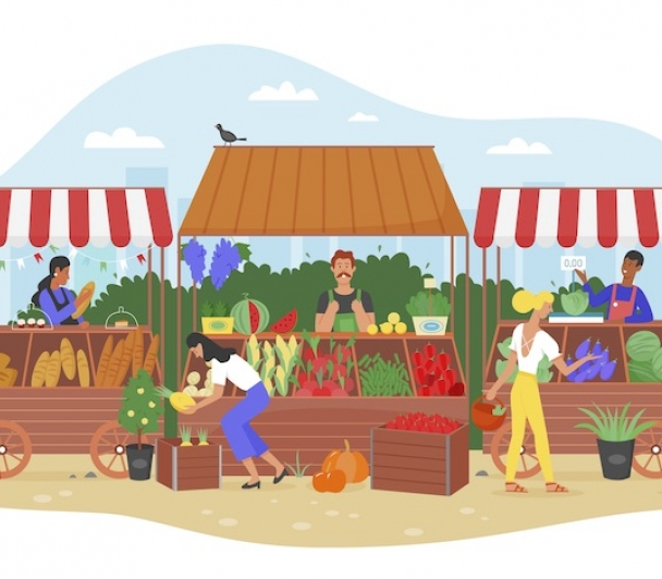 Marché des producteurs et artisans de Camargue